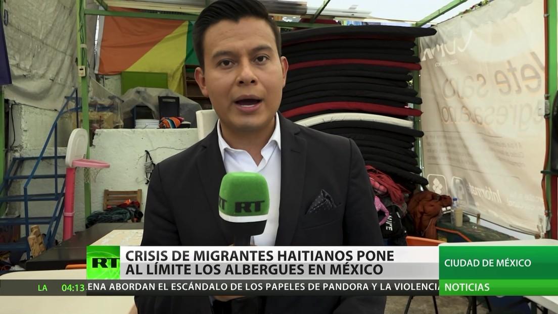 Crisis de migrantes haitianos pone al límite los albergues en México