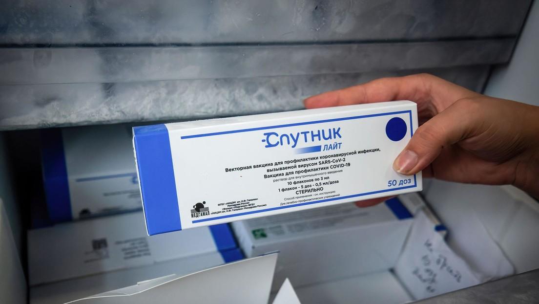 La vacuna monodosis Sputnik Light muestra una eficacia del 70 % contra la variante Delta en los 3 meses posteriores a la vacunación
