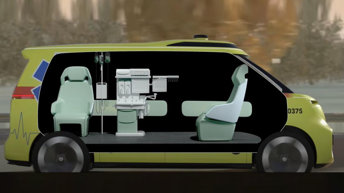 Volkswagen muestra su ambulancia futurista con conducción autónoma (VIDEO)