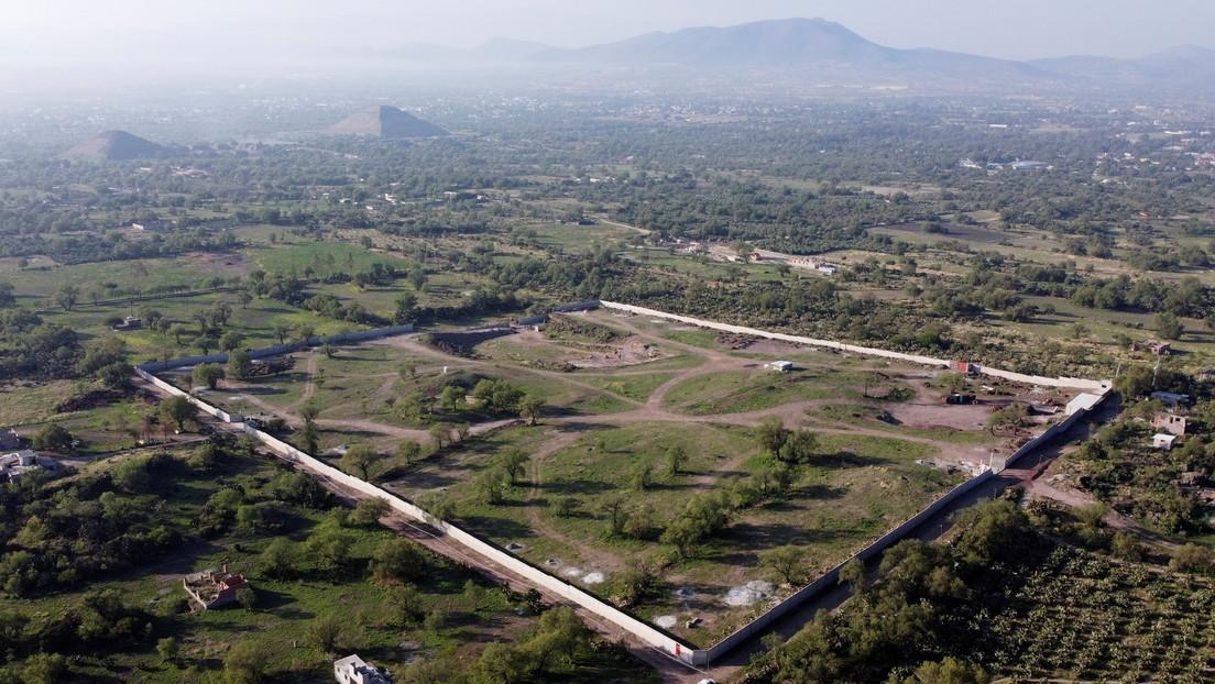 La Policía mexicana detiene obras ilegales en la zona arqueológica de Teotihuacán