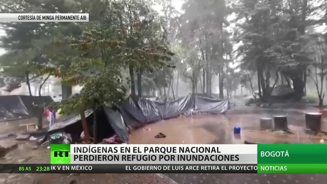 Colombia: Indígenas en el Parque Nacional de Bogotá pierden refugio por las inundaciones