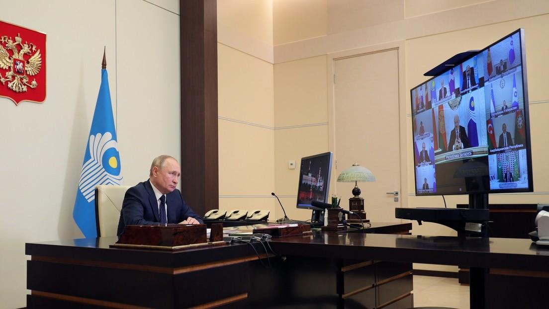 Putin advierte que las concentraciones de grupos terroristas en el norte de Afganistán plantean riesgos para Asia Central y la CEI