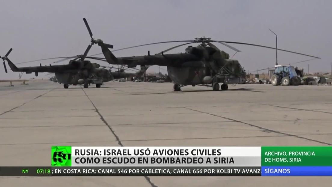 Rusia acusa a Israel de utilizar aviones civiles como cobertura durante su último bombardeo contra Siria