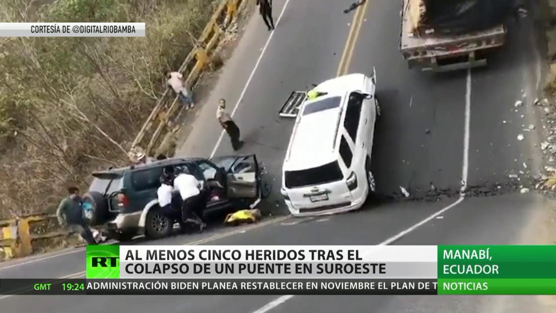 Al menos cinco heridos tras el colapso de un puente en Ecuador