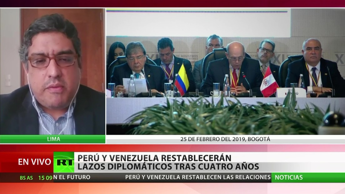 """Experto: El restablecimiento de los lazos diplomáticos entre Perú y Venezuela """"se veía venir"""""""