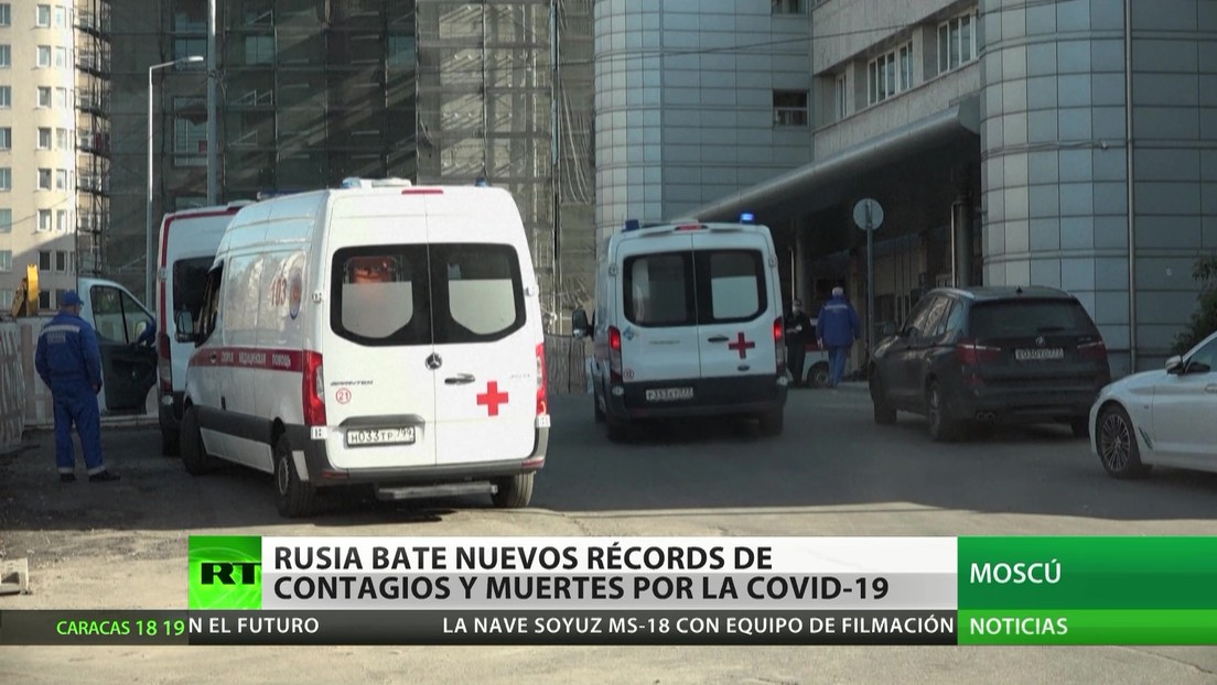 Rusia bate nuevos récords de contagios y muertes por coronavirus