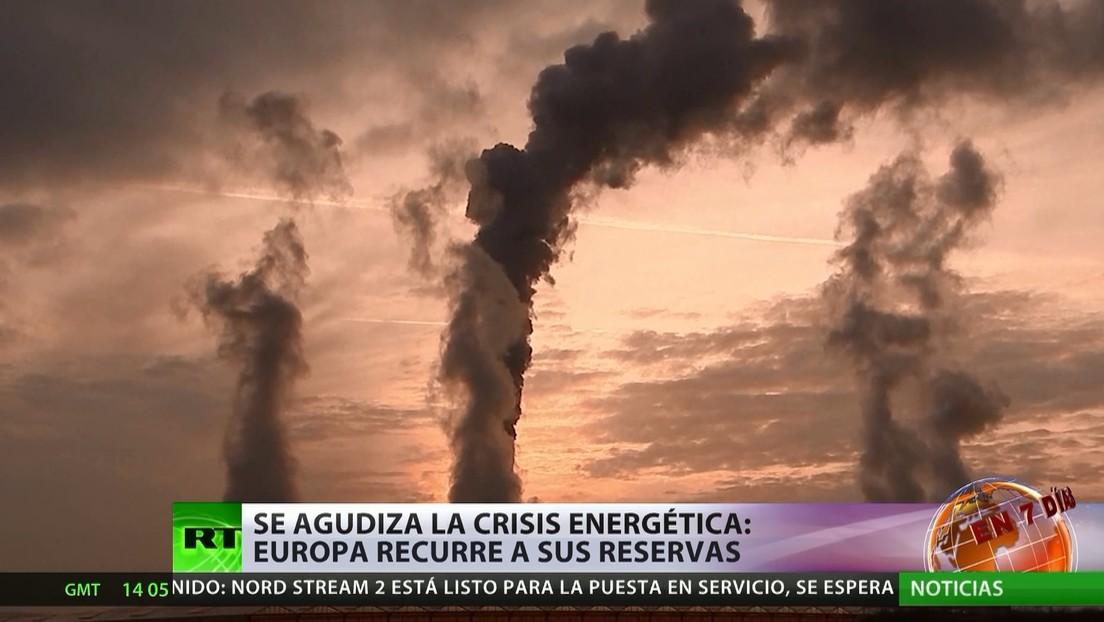 Se agudiza la crisis energética: Europa recurre a sus reservas