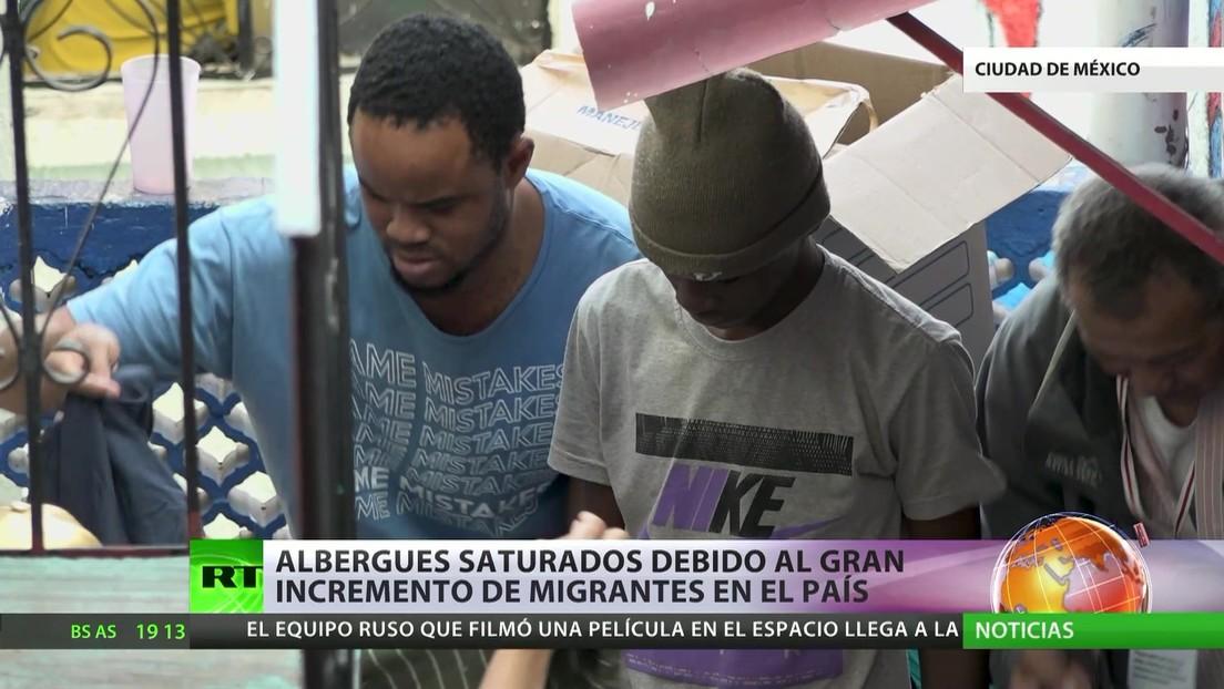 Albergues saturados en México debido al gran incremento de migrantes en el país