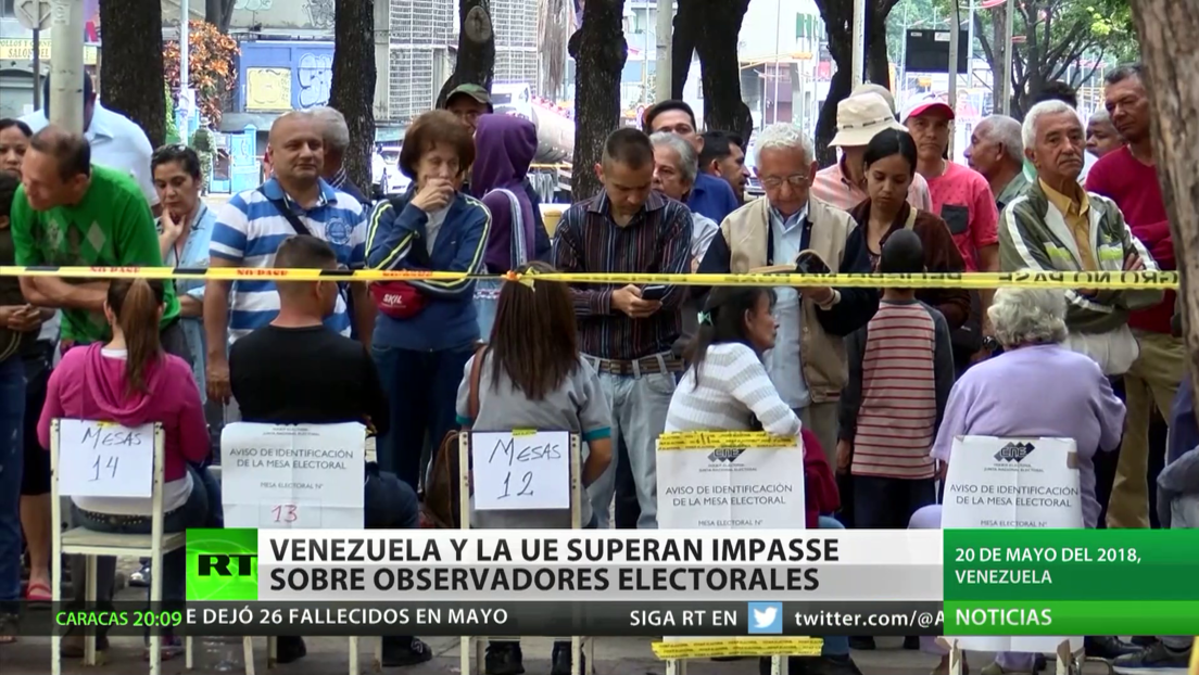 Venezuela y la UE superan 'impasse' sobre observadores electorales
