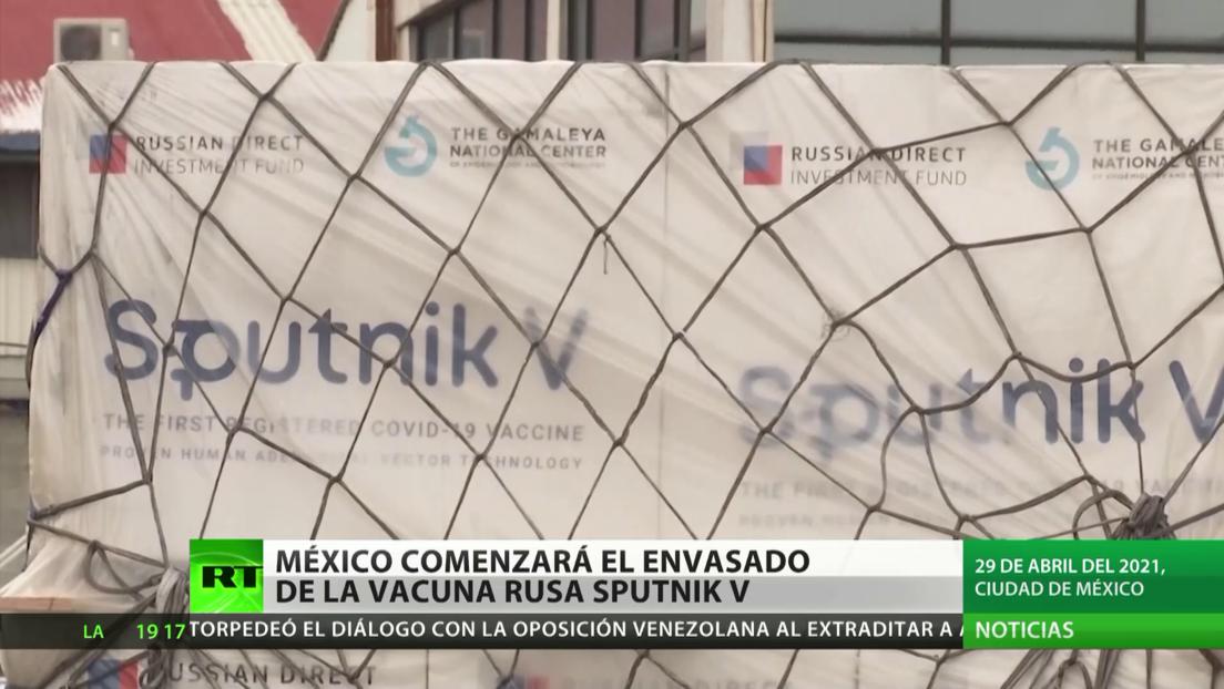 México anuncia que comenzará el envasado de la vacuna rusa Sputnik V