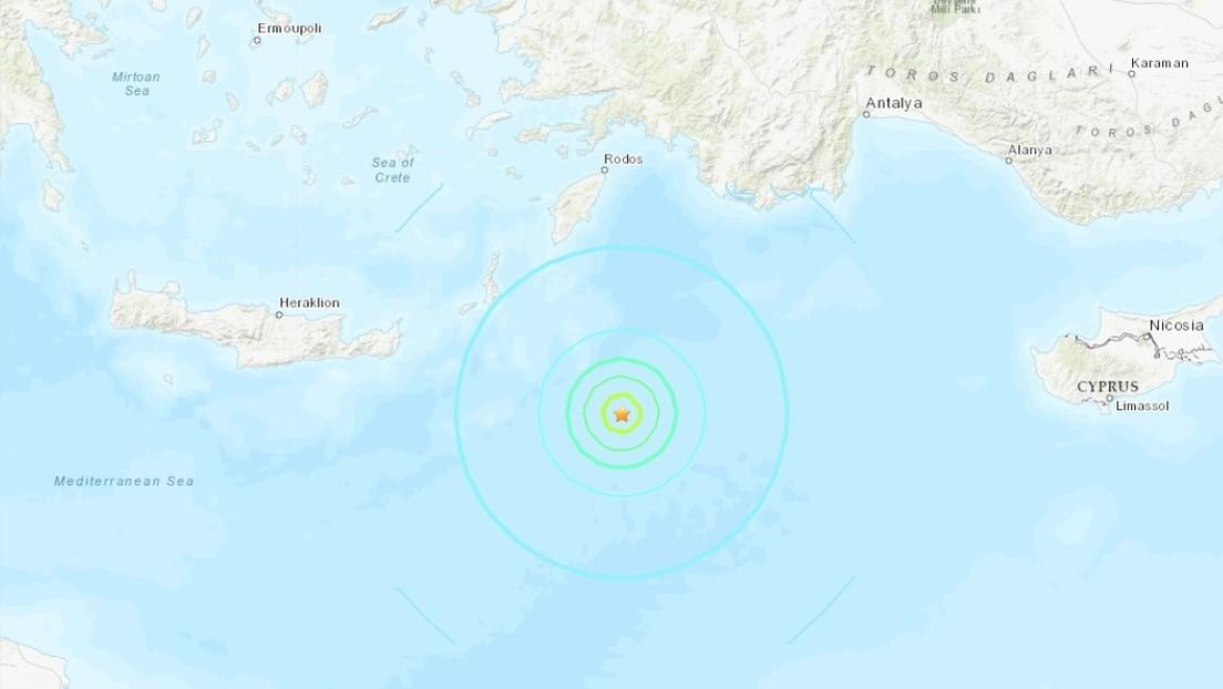 Un sismo de magnitud 6,0 sacude varias islas griegas en el Mediterráneo