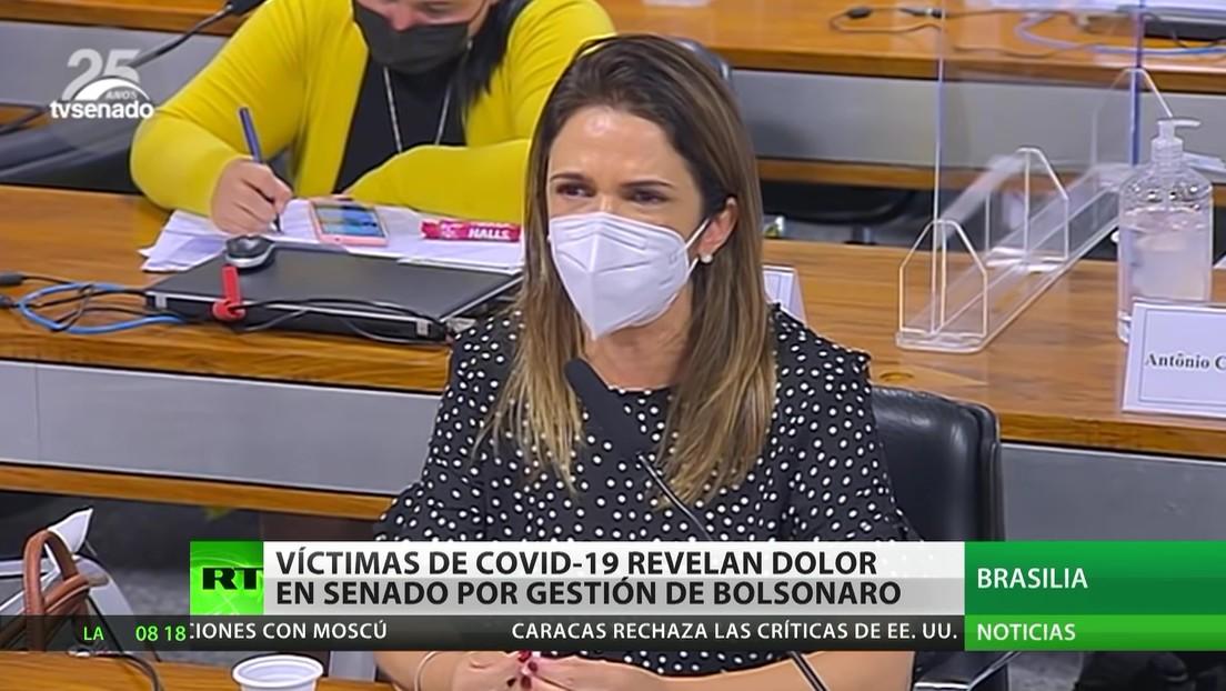 Brasil: Víctimas de la pandemia revelan su dolor en el Senado por la gestión de Bolsonaro