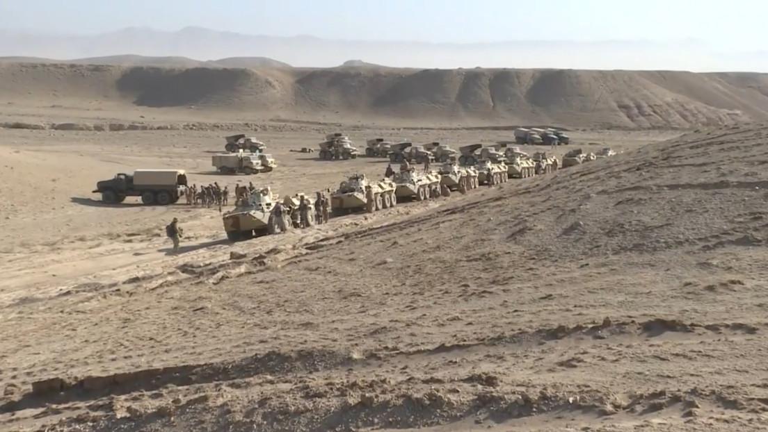 Rusia y sus aliados postsoviéticos realizan ejercicios militares cerca de la frontera afgana (VIDEO)