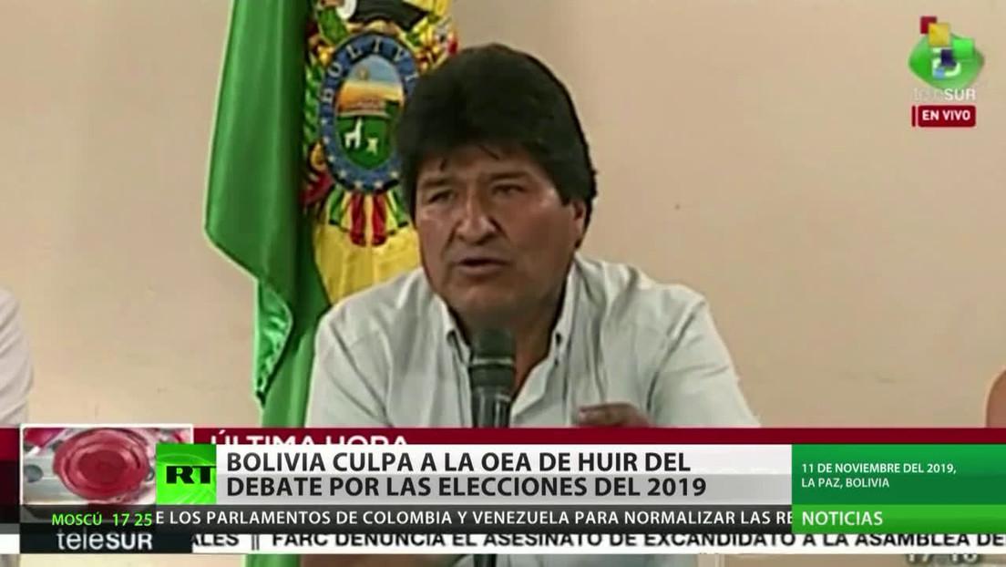 Bolivia culpa a la OEA de huir del debate por las elecciones del 2019