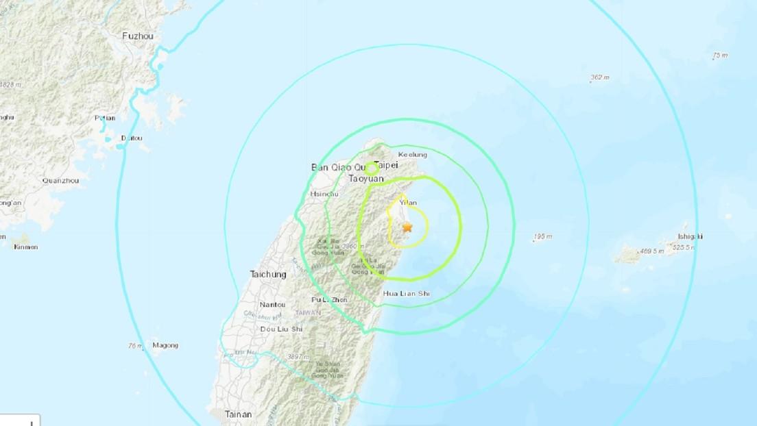 Un terremoto de magnitud 6,3 se registra en el noreste de Taiwán