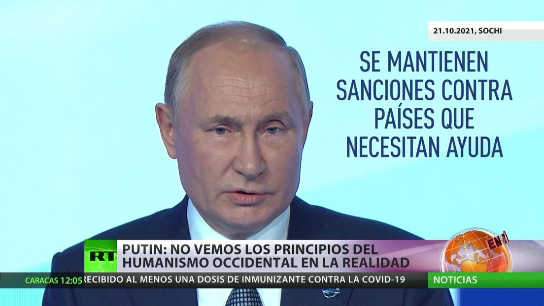 """Putin: """"No vemos los principios del humanismo occidental en la realidad"""""""