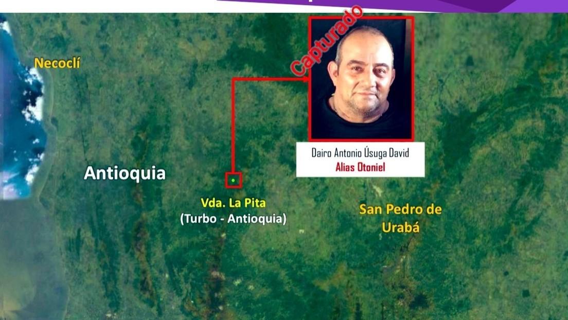VIDEO: Militares de Colombia muestran desde el aire el área donde capturaron a 'Otoniel', líder del Clan del Golfo