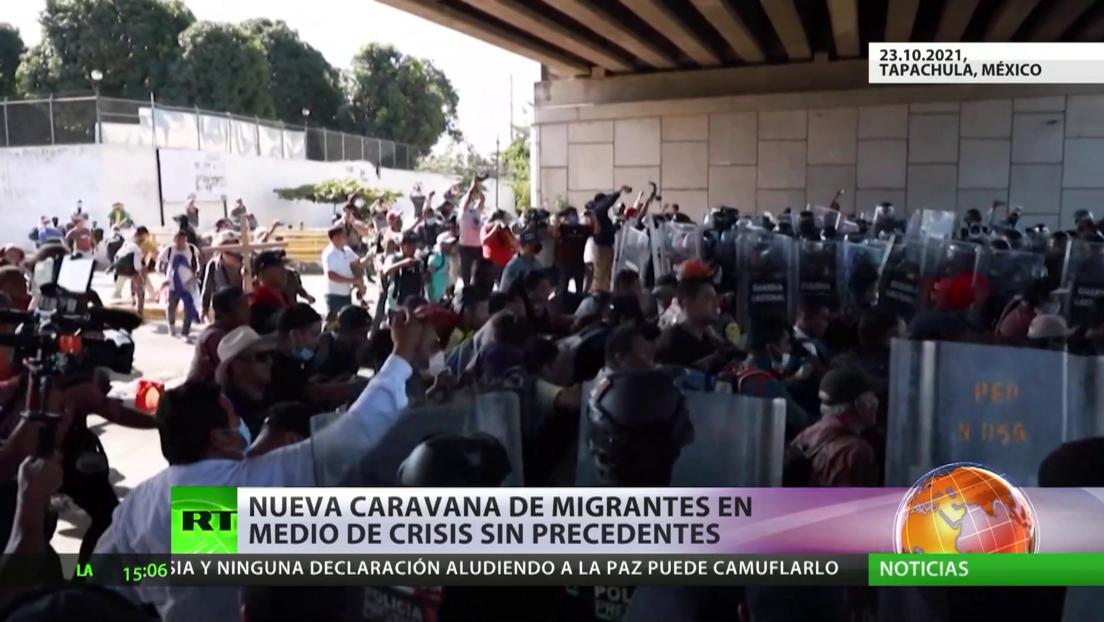 Caravana de migrantes continúa su camino hacia Ciudad de México en medio de una crisis migratoria sin precedentes