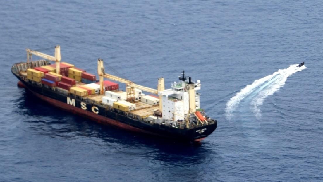La Marina rusa frustra un asalto pirata contra un portacontenedores de bandera panameña en el golfo de Guinea
