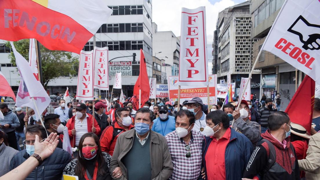 Lasso enfrenta una nueva protesta en Ecuador por el alza de los combustibles en medio del estado de excepción que rige en el país