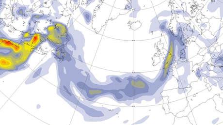 El dióxido de azufre del volcán de La Palma llega a Cuba junto al polvo del Sáhara