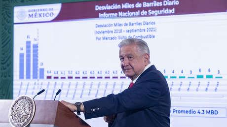 López Obrador señala a empresas extranjeras de participar en el contrabando de combustible en México