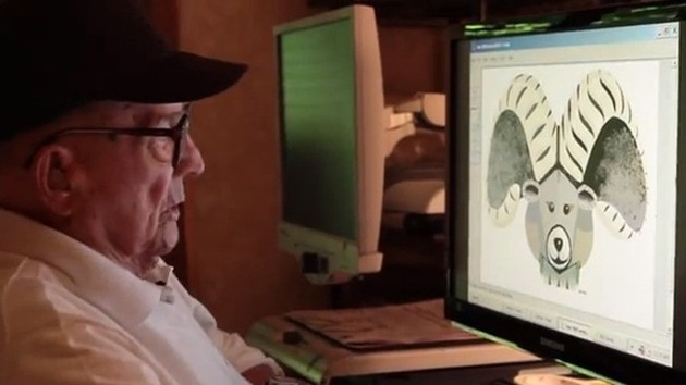 Un artista de 97 años pinta fascinantes obras en Paint del Windows 95