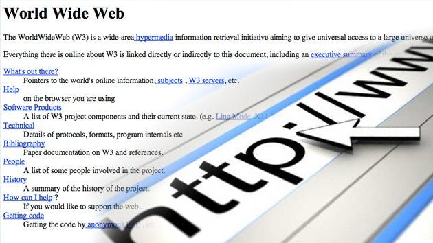 ¿Cómo fue la primera página de Internet hace 20 años?