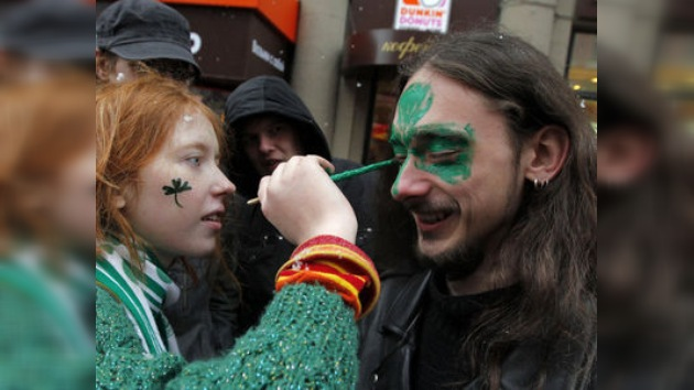 El Moscú más verde: La capital rusa celebra San Patricio con auténtico espíritu irlandés