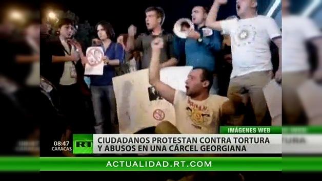 Multitudinarias protestas en Georgia por un video de torturas a presos
