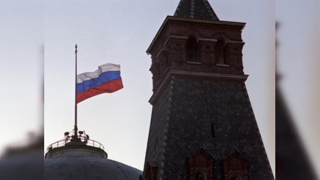 Fin de semana en Rusia debajo de la bandera a media asta
