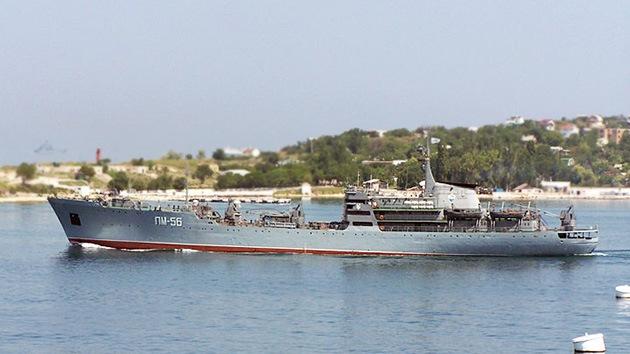 Dos barcos rusos ponen rumbo a Siria
