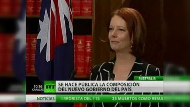 La primera jefa de gobierno de Australia anuncia su nuevo Gabinete
