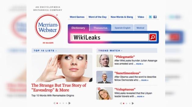 WikiLeaks recibió el estatus oficial de palabra del idioma inglés