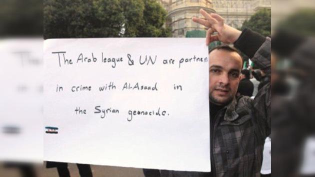 """Siria ve a la resolución de la Liga Árabe como una """"conspiración"""""""