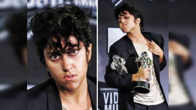 Lady Gaga se 'transforma' en hombre para la ceremonia MTV Video Music