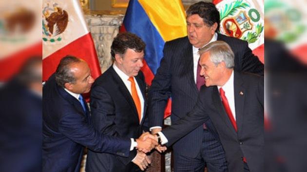 Perú, Chile, Colombia y México crean Alianza del Pacífico Latinoamericano