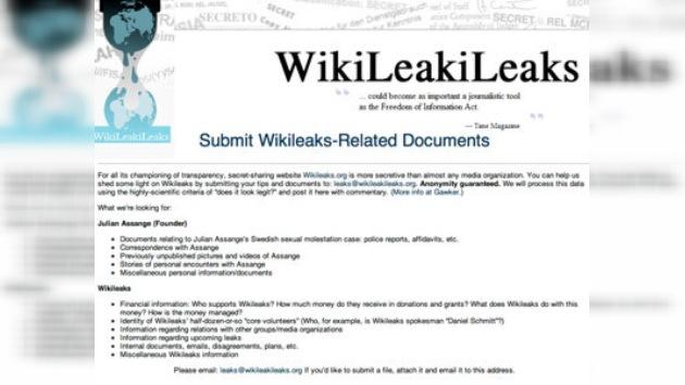 Se crea un portal para mostrar los 'trapos sucios' de WikiLeaks