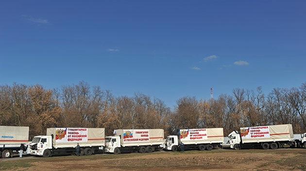 El octavo convoy de ayuda humanitaria rusa llega al este de Ucrania