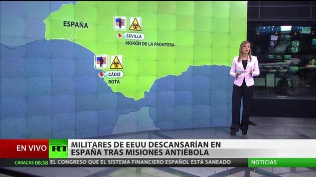 EE.UU. pide que sus militares descansen en España tras misiones antiébola