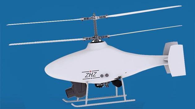 China presenta un pequeño pero polifuncional helicóptero no tripulado