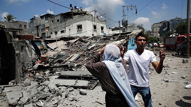 El Ejército israelí reparte fotos de Gaza destruida para motivar a sus soldados