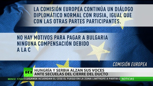La congelación del South Stream hará perder a empresas europeas 2.500 millones de euros