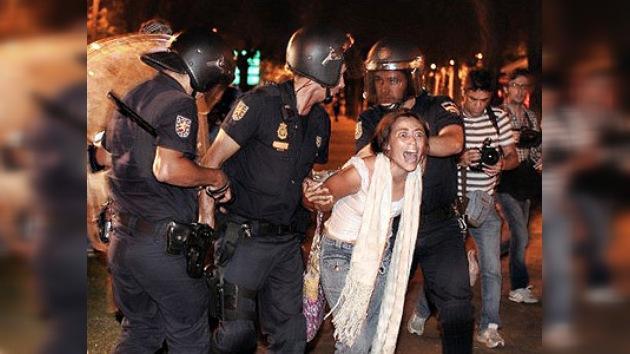 Los 'indignados' colapsan el centro de Madrid