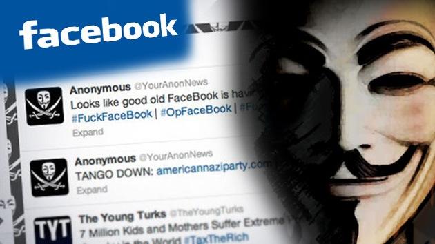 Facebook, otra víctima de Anonymous
