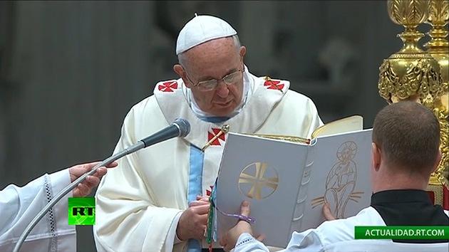 La primera misa del papa Francisco en el nuevo año