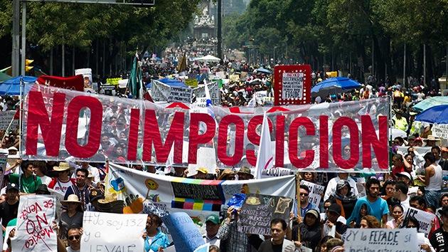 México planta cara a la victoria electoral de Peña Nieto con una marcha nacional