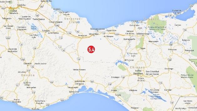 Se registra un sismo de magnitud 5,4 en el este de México
