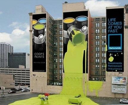 Cuando la publicidad se sale de madre... y del muro