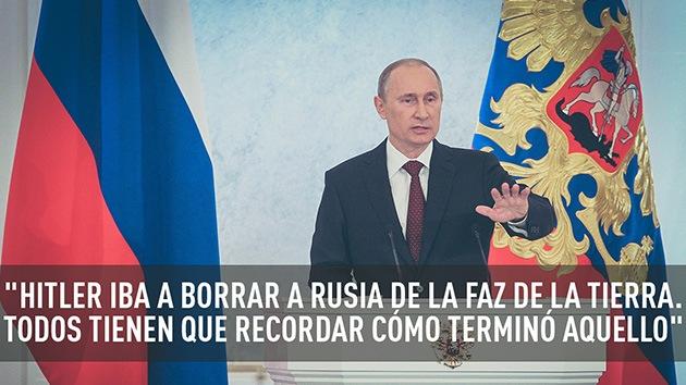"""""""Recuerden cómo terminó Hitler"""": Las mejores citas de Putin ante la Asamblea Federal"""